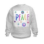 Pastel Peace Symbols Kids Sweatshirt