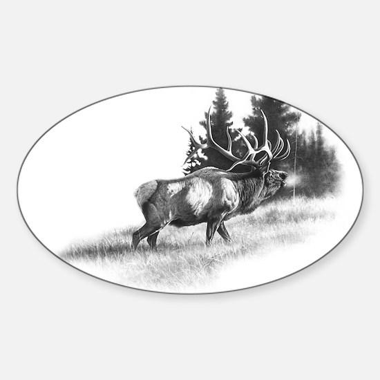 Elk Oval Decal