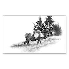 Elk Rectangle Decal