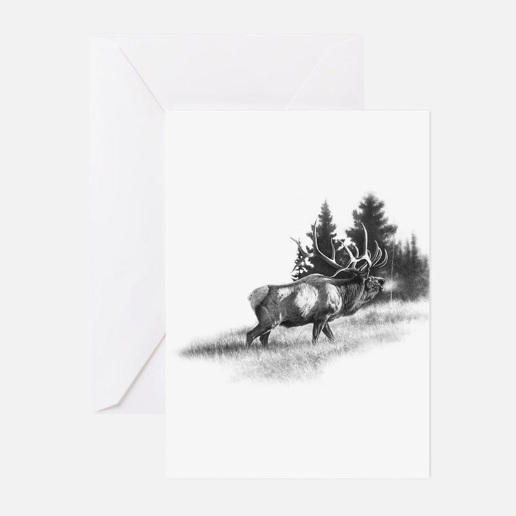 Elk Greeting Cards (Pk of 20)
