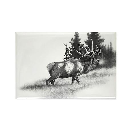 Elk Rectangle Magnet (100 pack)