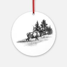 Elk Ornament (Round)