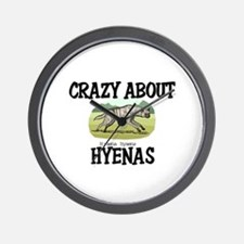 Crazy About Hyenas Wall Clock