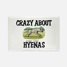 Crazy About Hyenas Rectangle Magnet