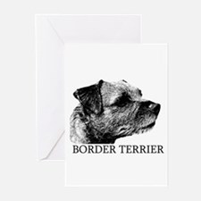 New! Border Terrier drawing Greeting Cards (Pk of