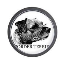 New! Border Terrier drawing Wall Clock