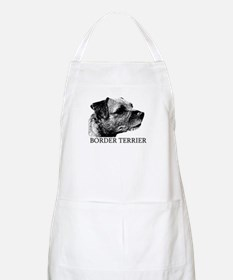 New! Border Terrier drawing BBQ Apron