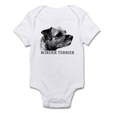 New! Border Terrier drawing Infant Bodysuit