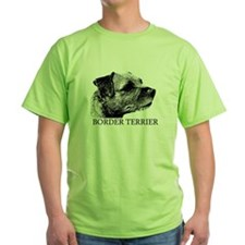 New! Border Terrier drawing T-Shirt