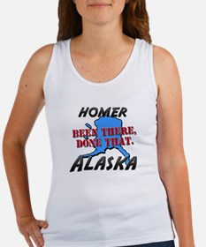 homer alaska - been there, done that Women's Tank
