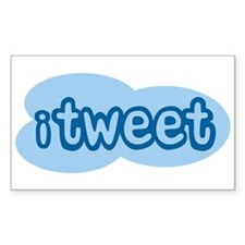 iTweet (Twitter) Rectangle Decal
