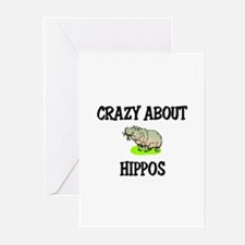 Crazy About Hippos Greeting Cards (Pk of 10)