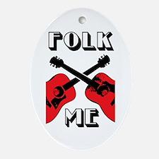 Folk Me Oval Ornament