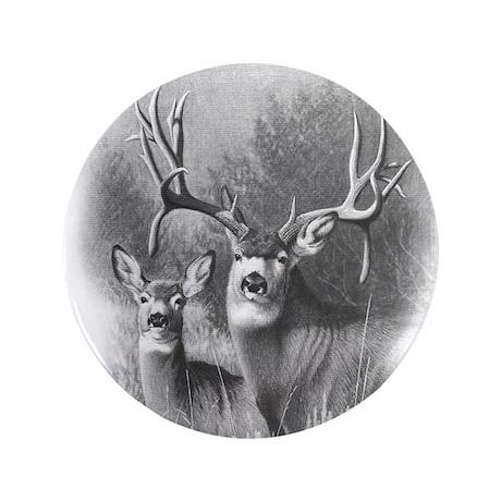 """Mule Deer 3.5"""" Button (100 pack)"""
