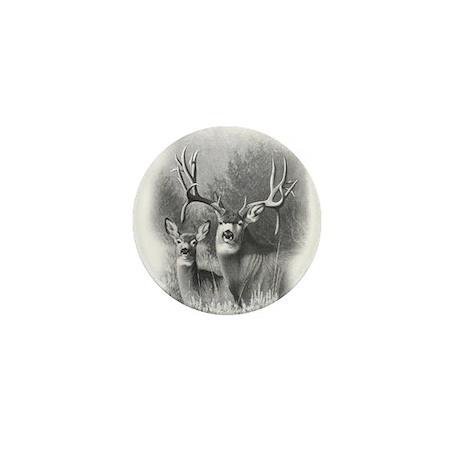 Mule Deer Mini Button (100 pack)