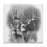 Mule deer Tile Coasters