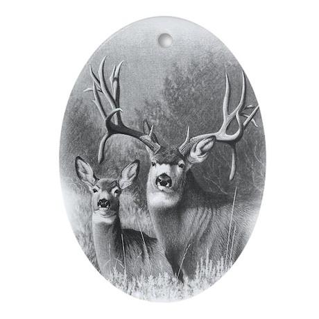 Mule Deer Oval Ornament