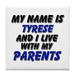 my name is tyrese and I live with my parents Tile