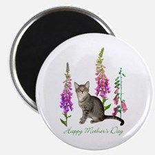 Cats in Foxglove Magnet