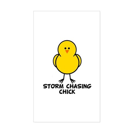 Storm Chasing Chick Rectangle Sticker