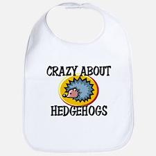 Crazy About Hedgehogs Bib