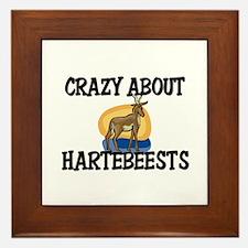 Crazy About Hartebeests Framed Tile