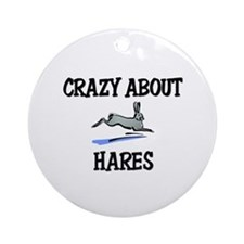 Crazy About Hares Ornament (Round)