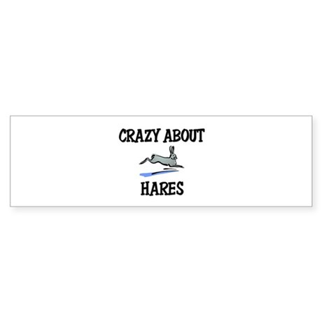 Crazy About Hares Bumper Sticker