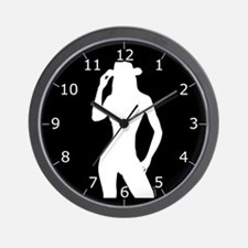 Nude Silhouette w/Hat3 Wall Clock