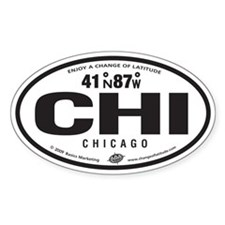 Chicago Destination Products Oval Decal