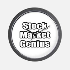 """Stock Market Genius"" Wall Clock"
