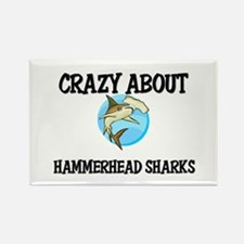 Crazy About Hammerhead Sharks Rectangle Magnet