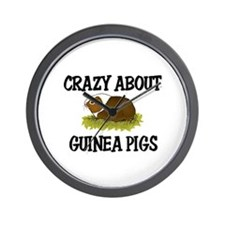 Crazy About Guinea Pigs Wall Clock