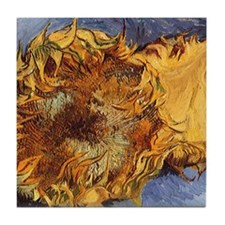 Van Gogh Two Cut Sunflowers Tile Coaster