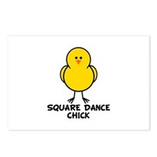 Square Dance Chick Postcards (Package of 8)
