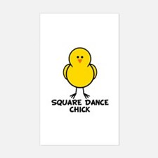 Square Dance Chick Rectangle Decal