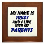my name is trudy and I live with my parents Framed
