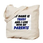 my name is trudy and I live with my parents Tote B