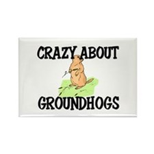 Crazy About Groundhogs Rectangle Magnet