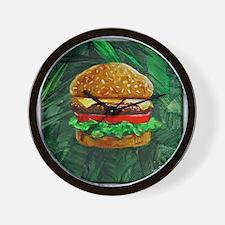 Tropical Cheeseburger Wall Clock