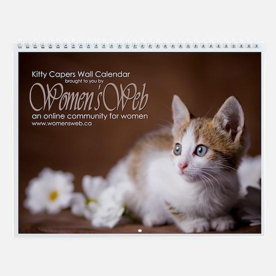 Women's Web Kitty Capers Wall Calendar