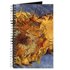 Van Gogh Two Cut Sunflowers Journal