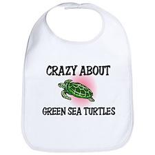 Crazy About Green Sea Turtles Bib