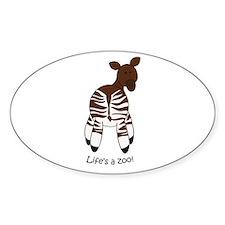 Okapi Oval Decal