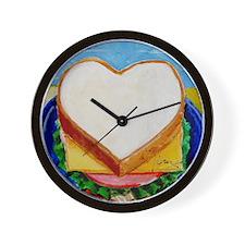 Love Sandwich Wall Clock
