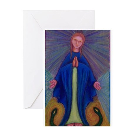 Mary Greeting Card - blank inside
