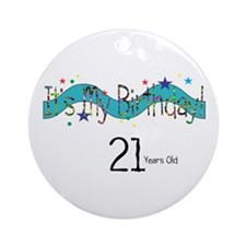 21 Years Old Ornament (Round)