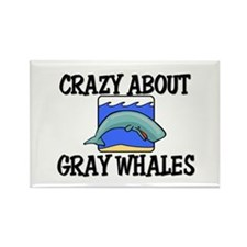 Crazy About Gray Whales Rectangle Magnet