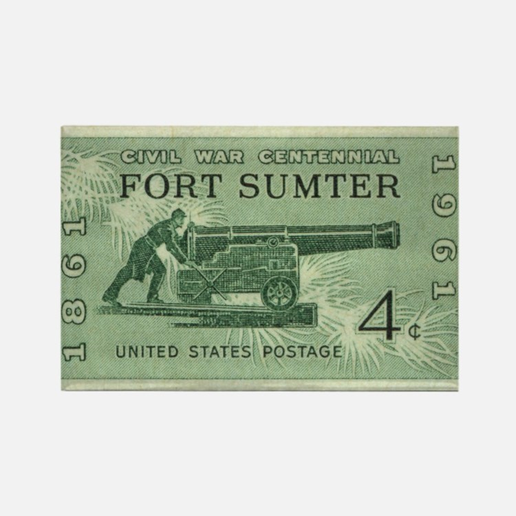 Fort Sumter Civil War Rectangle Magnet