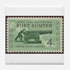 Fort Sumter Civil War Tile Coaster